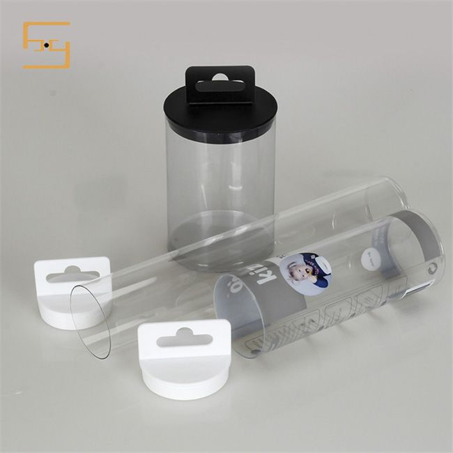 Clear Hard PVC Tube with Caps