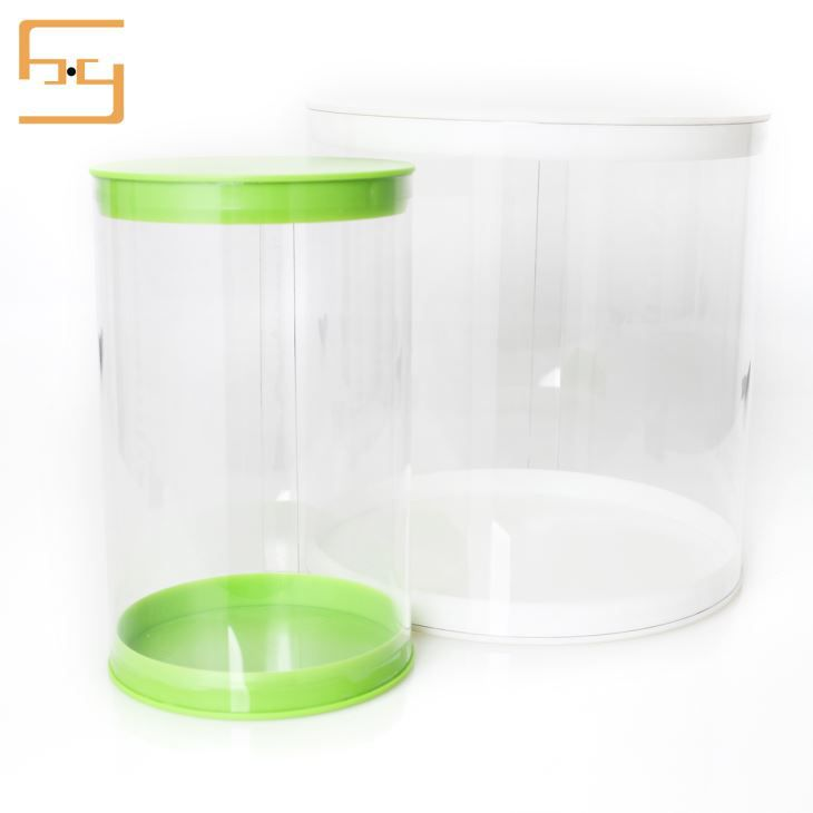 Round Box Plastic Cylinder For Toy